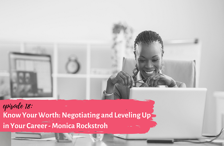 Know Your Worth: Negotiating and Leveling Up in Your Career - woman behind a computer